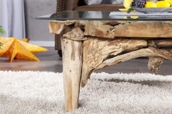 Konferenčný stolík z naplaveného dreva Riverside 100cm - podnož