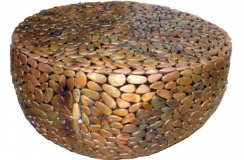 Medený konferenčný stolík Stone Mosaic 82cm