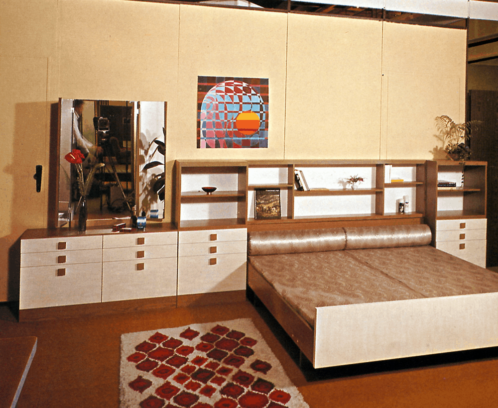 spálňa v 60tych rokoch