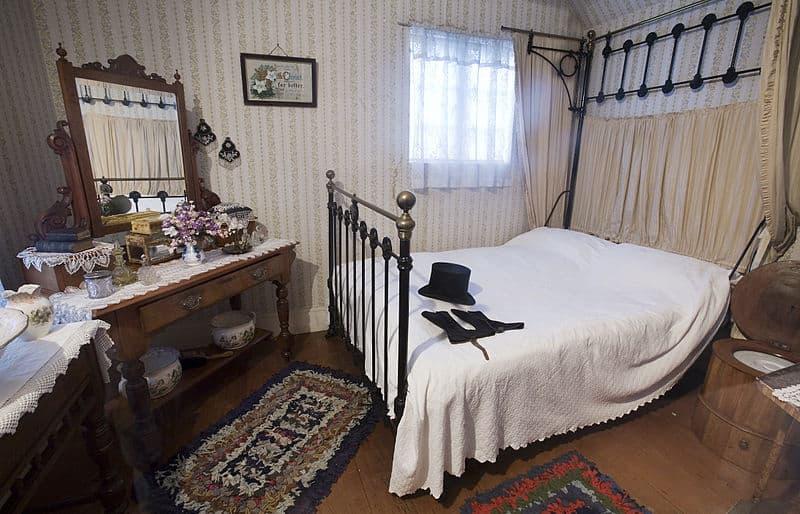 Spálňa z 19. storočia, Auckland.