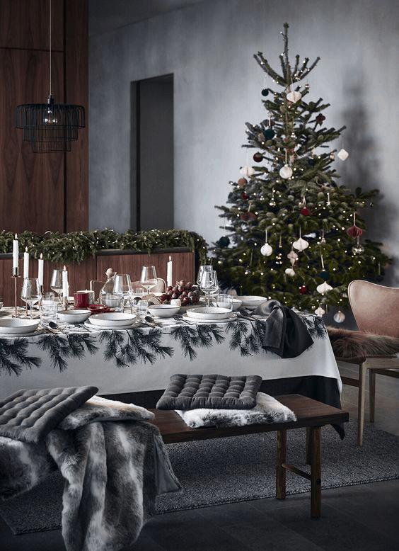 vianoce v škandinávskom štýle