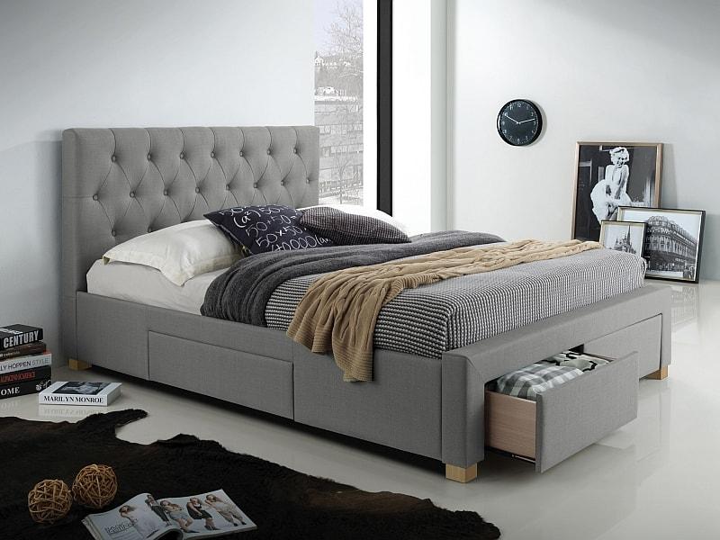 sivá posteľ oslo