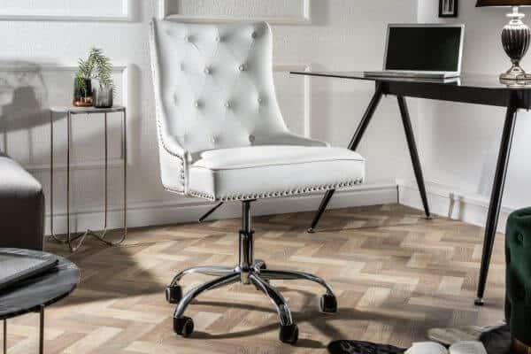 Biela kancelárska stolička Victorian (zdroj: iKuchyne)