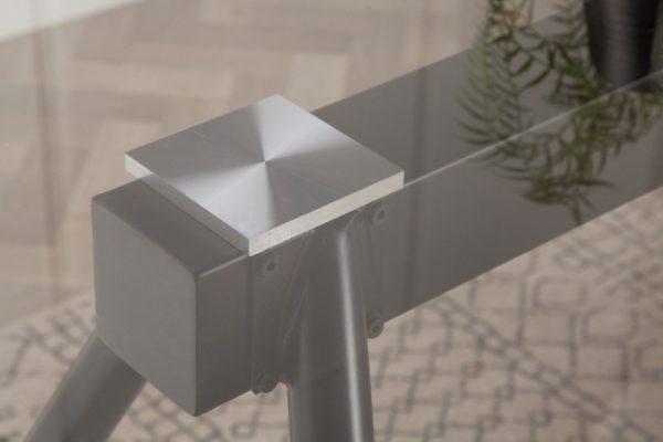 Jedálenský stôl Fantome 140cm sivá
