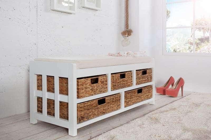 Kombinovaná drevená lavica Scandinavia ako lavica za vianočný stôl