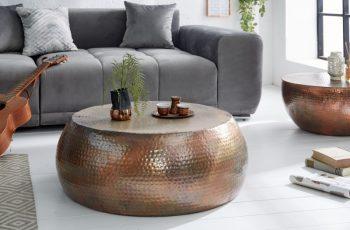 Konferenčný stolík Orient 80cm meď geflammt