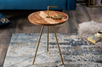 Konferenčný stolík SimplyClever 36cm agát zlatá