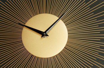Nástenné hodiny Infinity Home 50cm zlatá