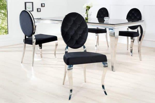 baroková čierna stolička
