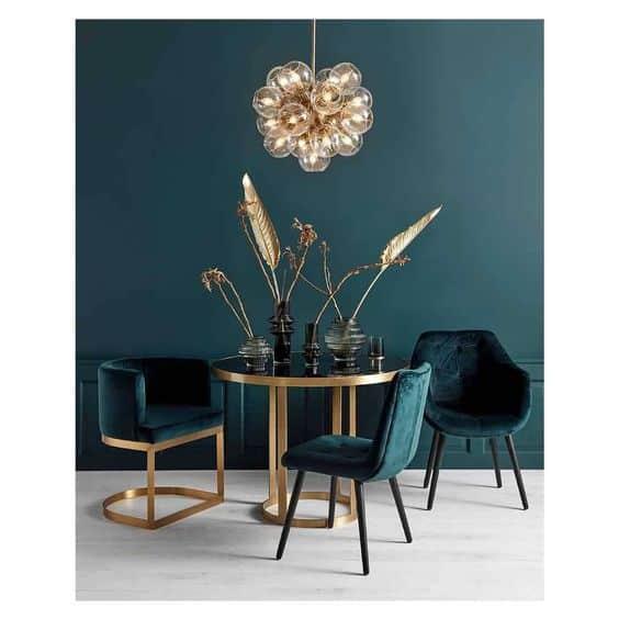 zelená moderná jedáleň