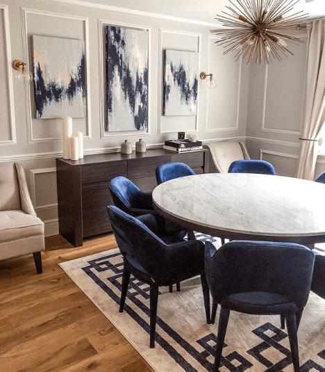moderná jedáleň blogerky