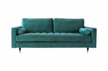 Sofa Cozy Velvet 225cm smaragdzelená zamat
