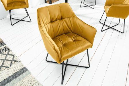 Žltá jedálenská stolička Loft