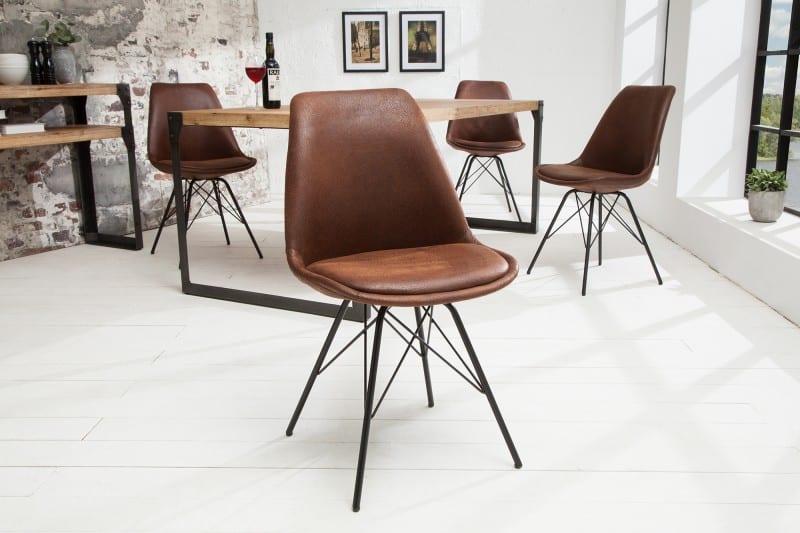 jedálenská stolička v industriálnom štýle