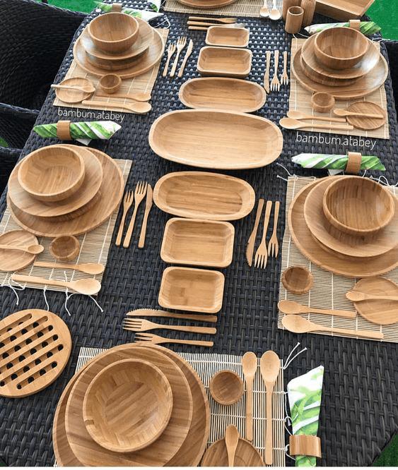 bambusový riad