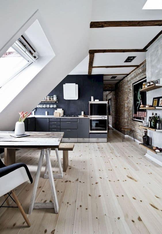 biela kuchyňa podkrovie