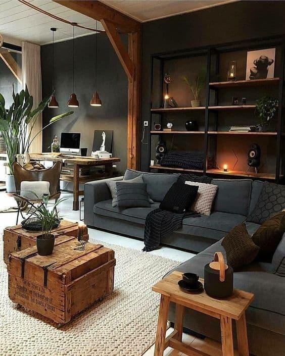 industriálna obývačka