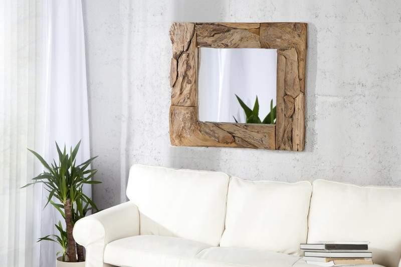 zrkadlo z naplaveného dreva