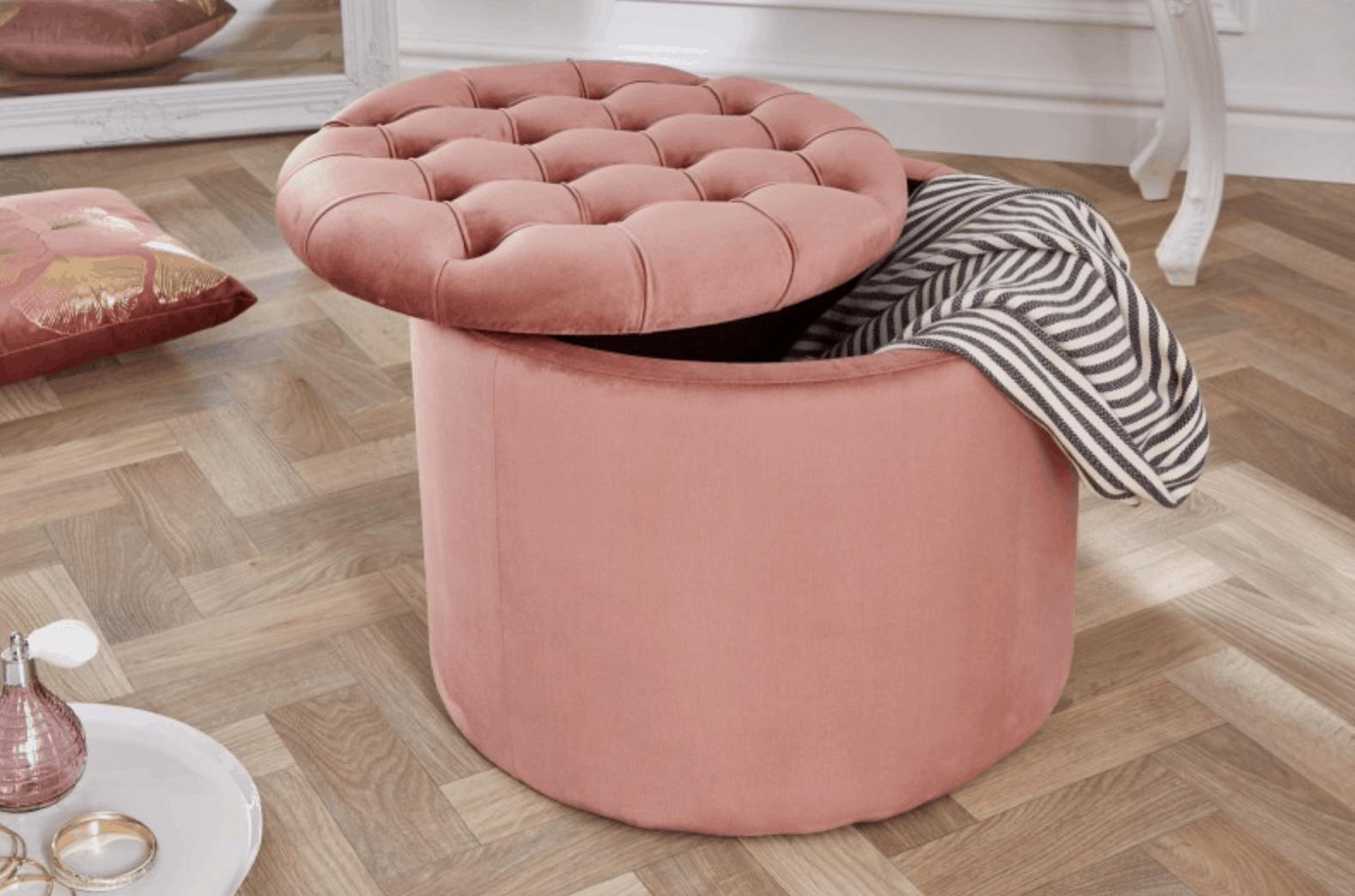 ružový taburet