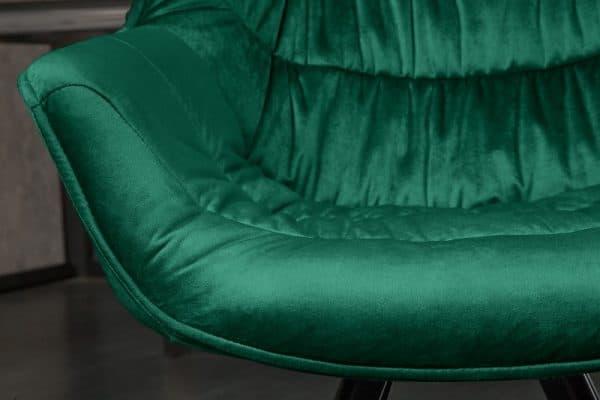 Smaragdovozelená jedálenská stolička The Dutch Comfort