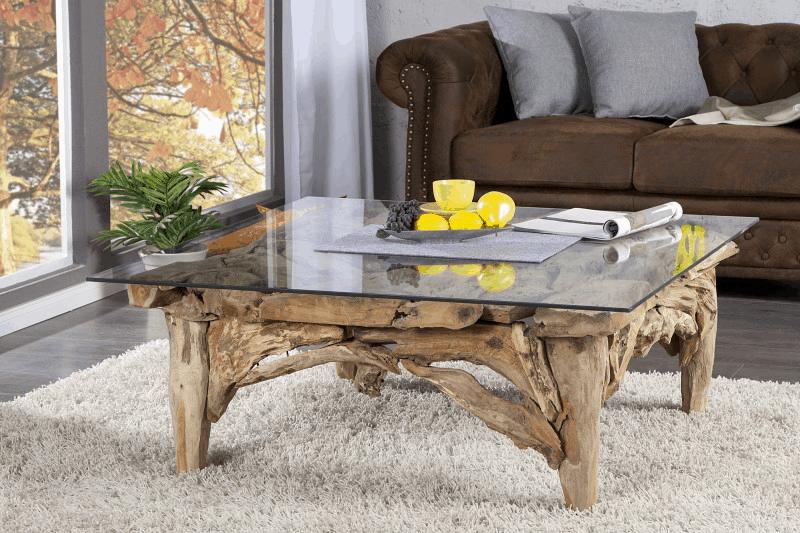 konferenčný stolík prírodného dreva