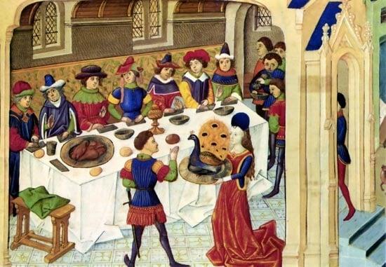 stolovanie v stredoveku