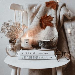 Sviečky s jesennou vôňou jesenné bývanie