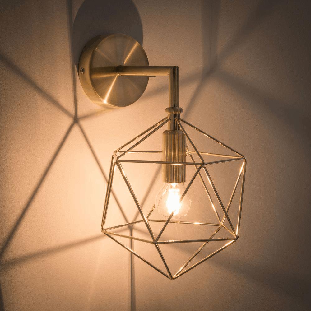 svietidlá do spálne s geometrickymi tvarmi