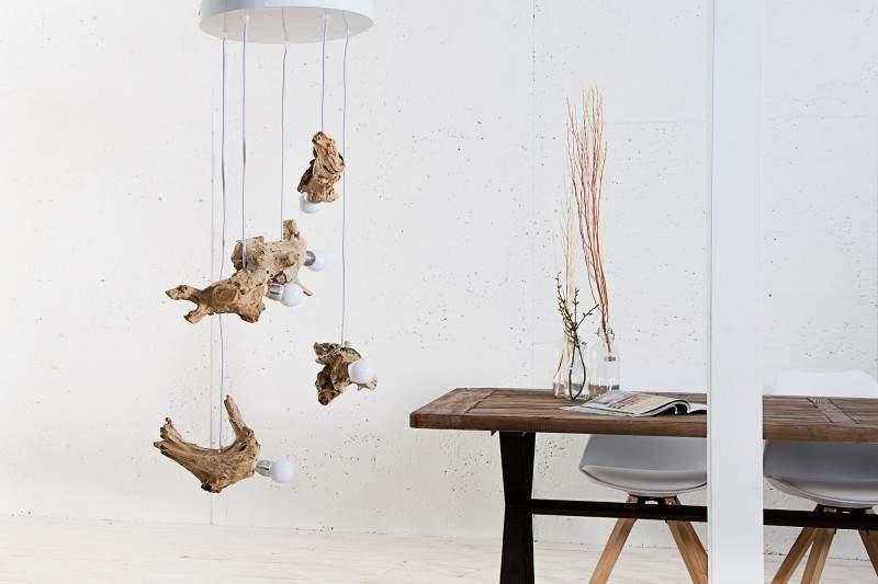 závesná lampa Hypnotic V z naplaveného dreva