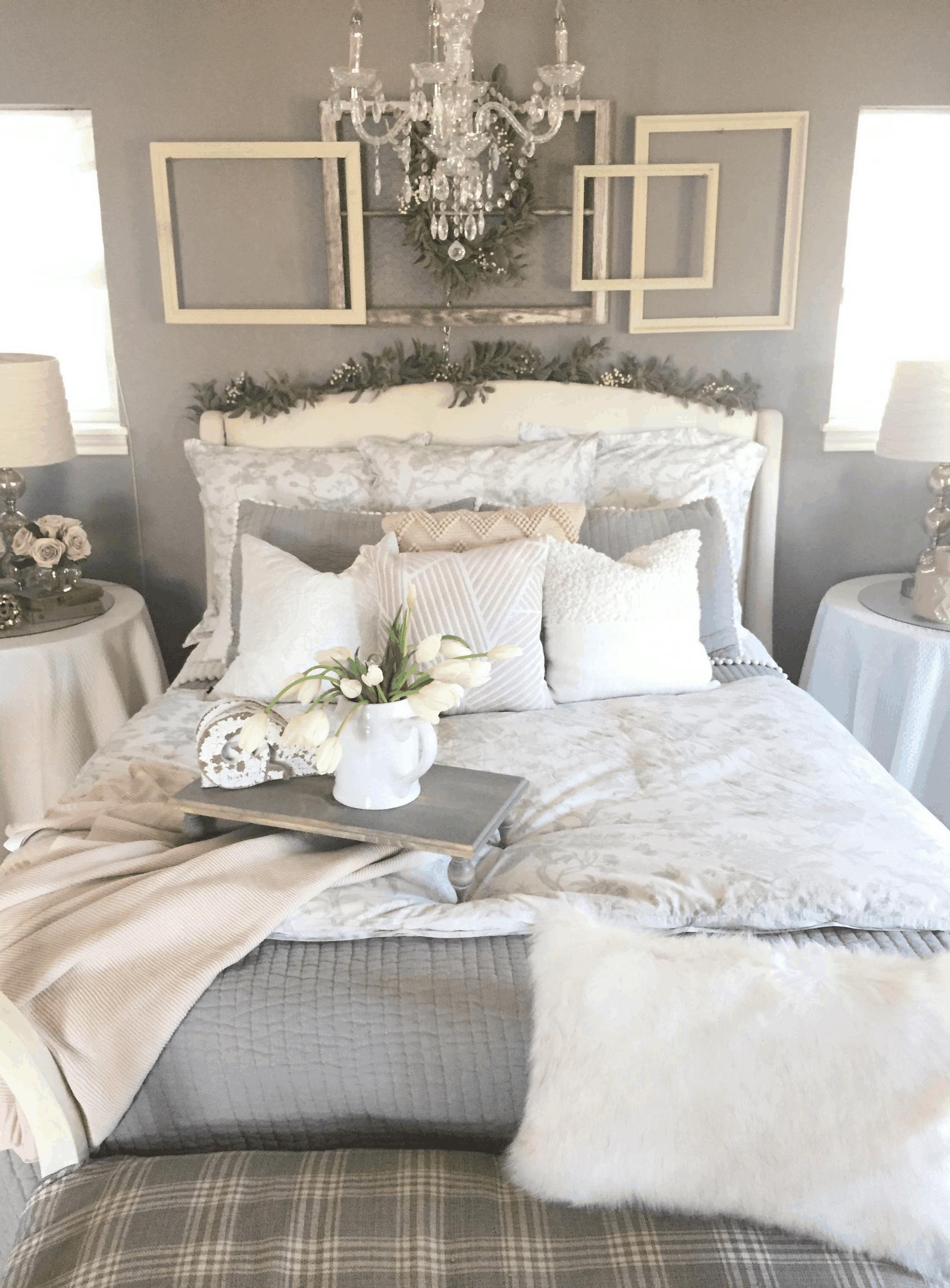 zimné dekoraovanie spálne
