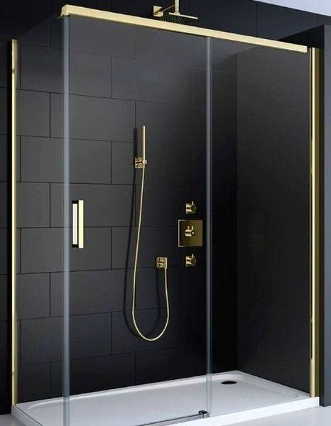 zlatý sprchový kút