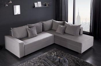 Eck-Rozkladacia pohovka Apartment sivá zamat