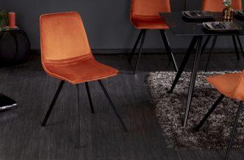 Stolička Amsterdam oranžová zamat