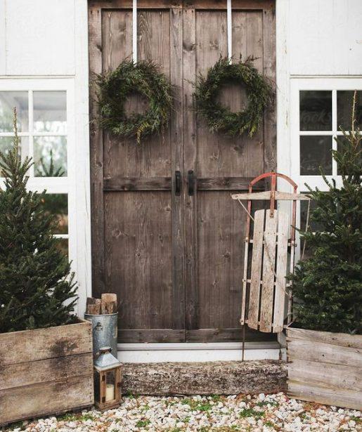 klasický prírodný dekor Vianoc