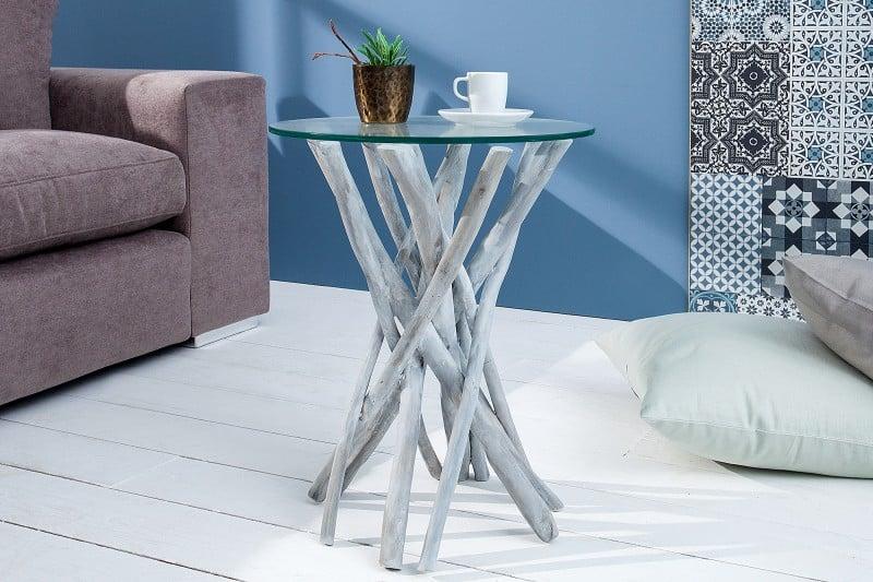 Konferenčný stolík z naplaveného dreva