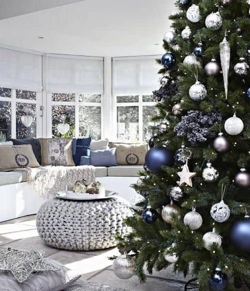 Modré dekorácie
