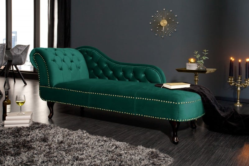 smaragdovozelena sedacka chesterfield