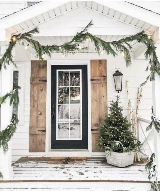 vianočná výdoba - prírodné prvky