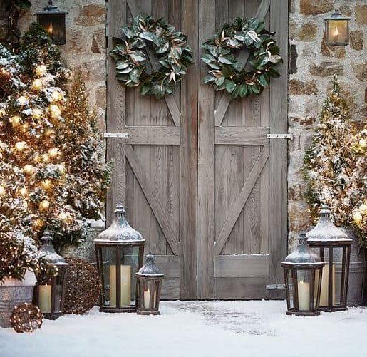 vianočná výzdoba - dverí