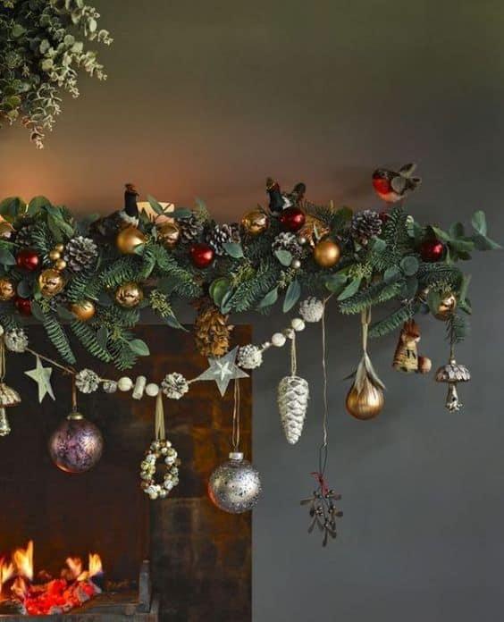 vianočná výzdoba - kozubu