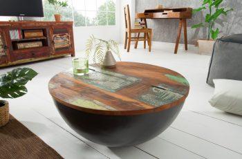 Couchtsich Jakarta 70cm sivá recyklované drevo