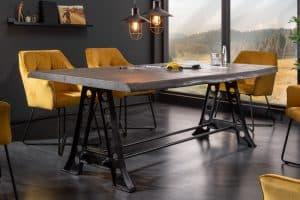 Jedálenský stôl Mammut Industrial 220cm agát sivá