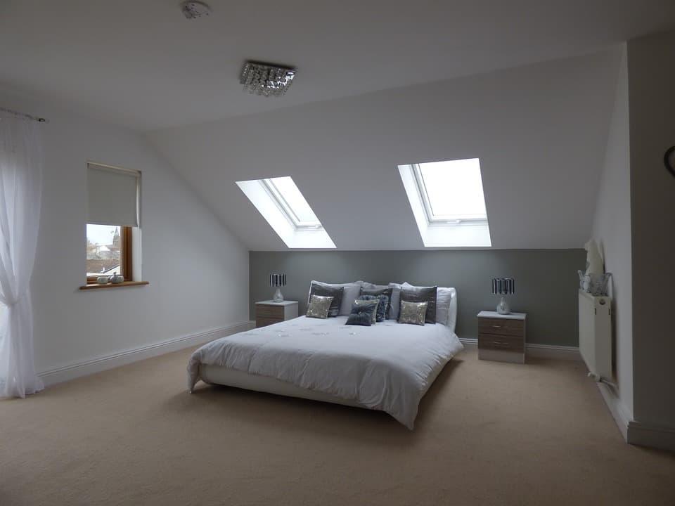 Spálňa v minimalistickom štýle