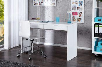 Písací stôl Sensation biela vysokolesklá 120cm
