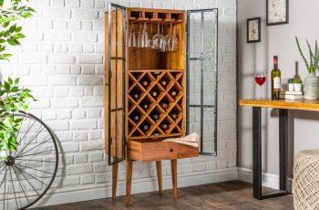 Regál na víno Bodega 145cm agát