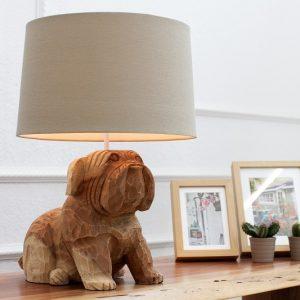 Stolová lampa Dog 50cm Walnuss