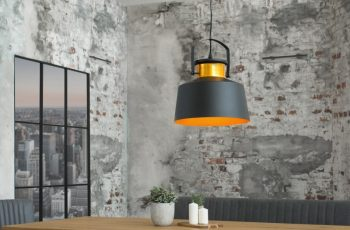 Závesná lampa Luz I 28cm čiernozlatá