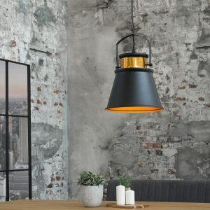 Závesná lampa Luz II 25cm čiernozlatá