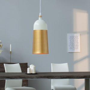 Závesná lampa ModernChic I 31cm biela zlatá