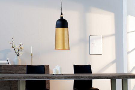 Závesná lampa ModernChic I 31cm čiernozlatá